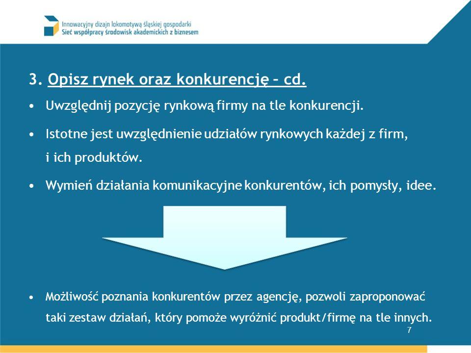 3. Opisz rynek oraz konkurencję – cd.