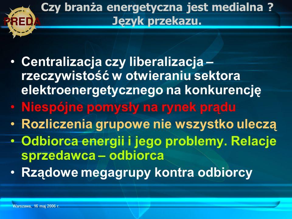 Czy branża energetyczna jest medialna Język przekazu.