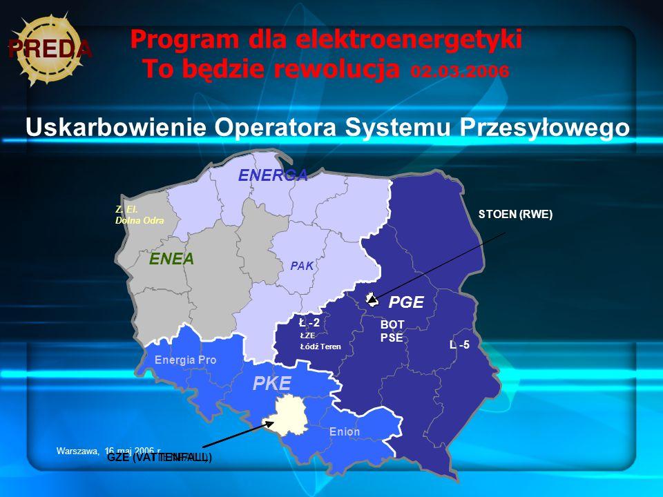 Program dla elektroenergetyki To będzie rewolucja 02.03.2006