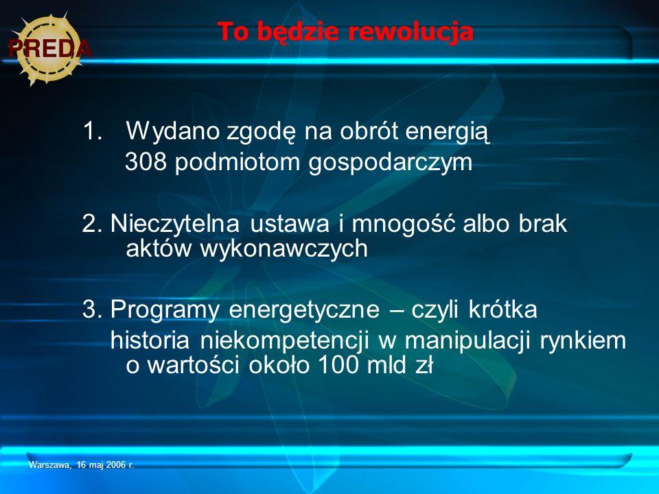 Wydano zgodę na obrót energią 308 podmiotom gospodarczym