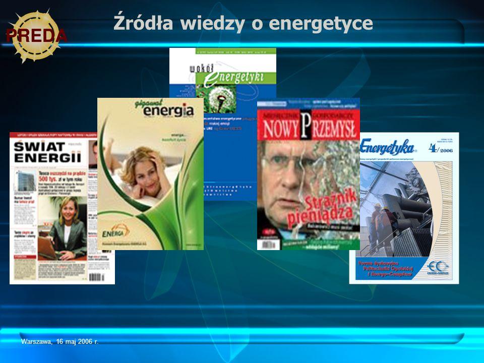 Źródła wiedzy o energetyce