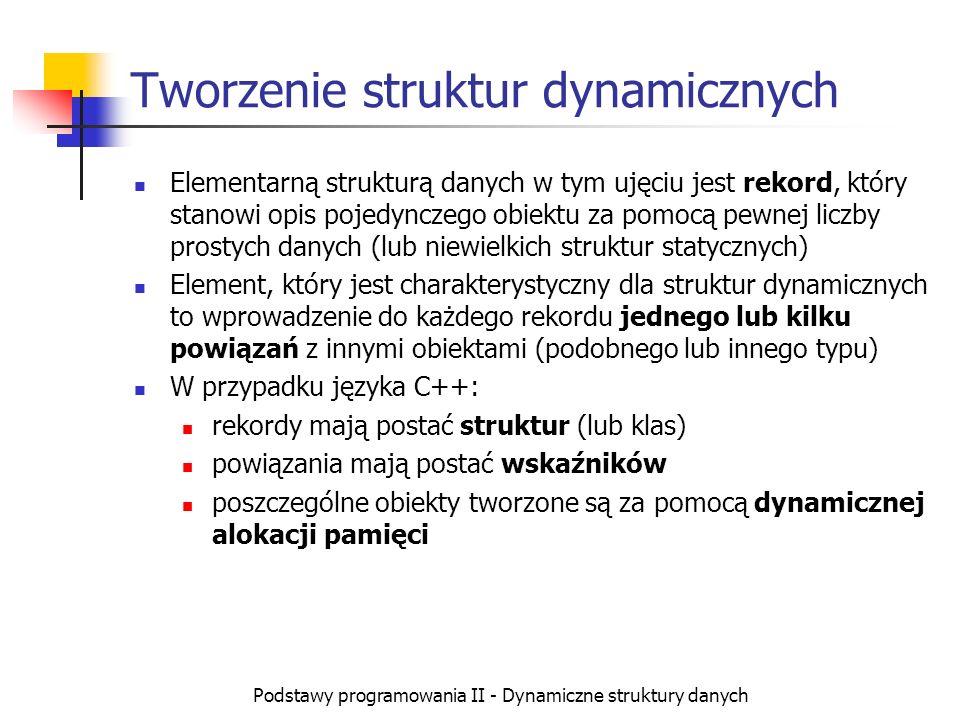 Tworzenie struktur dynamicznych