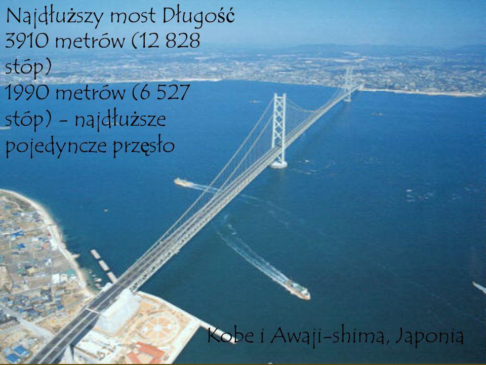 Najdłuższy most Długość 3910 metrów (12 828 stóp)