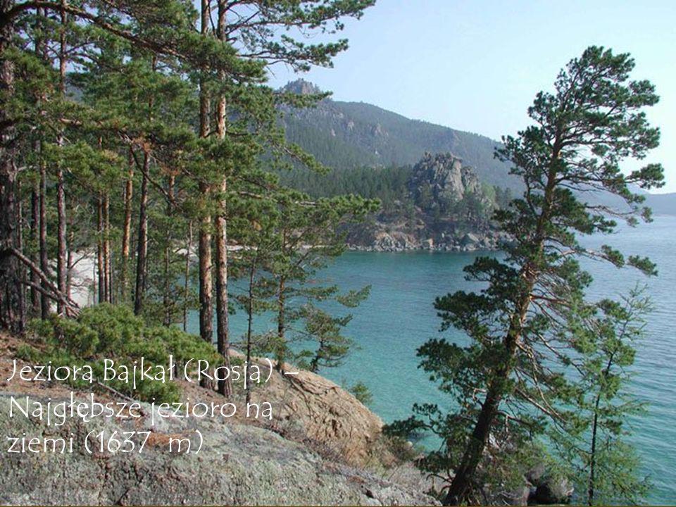 Jeziora Bajkał (Rosja) – Najgłębsze jezioro na ziemi (1637 m)