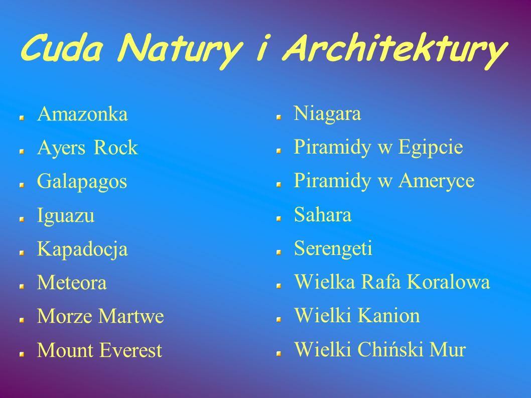 Cuda Natury i Architektury