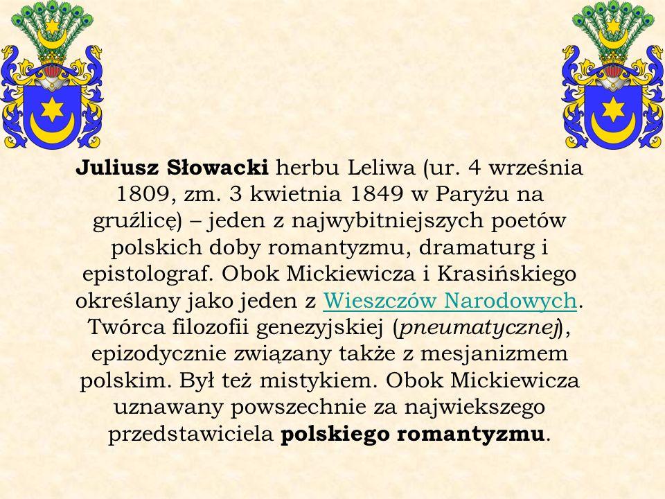 Juliusz Słowacki herbu Leliwa (ur. 4 września 1809, zm