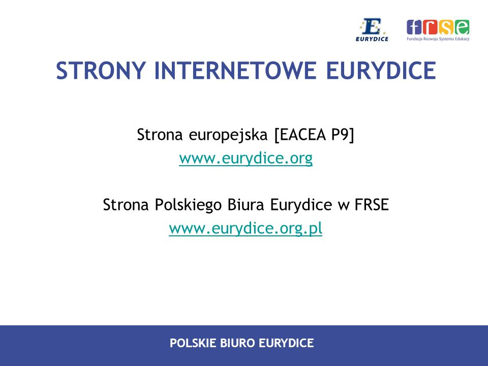 STRONY INTERNETOWE EURYDICE