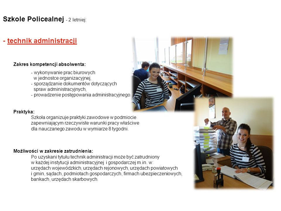 Szkole Policealnej - 2 letniej: