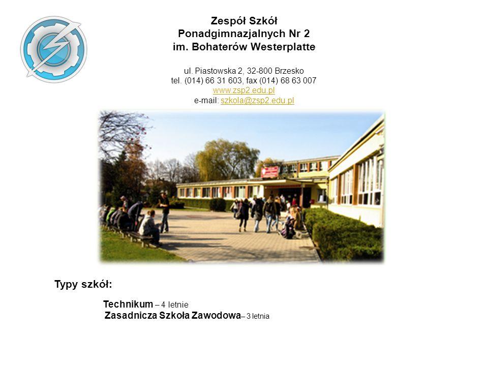 Ponadgimnazjalnych Nr 2 im. Bohaterów Westerplatte