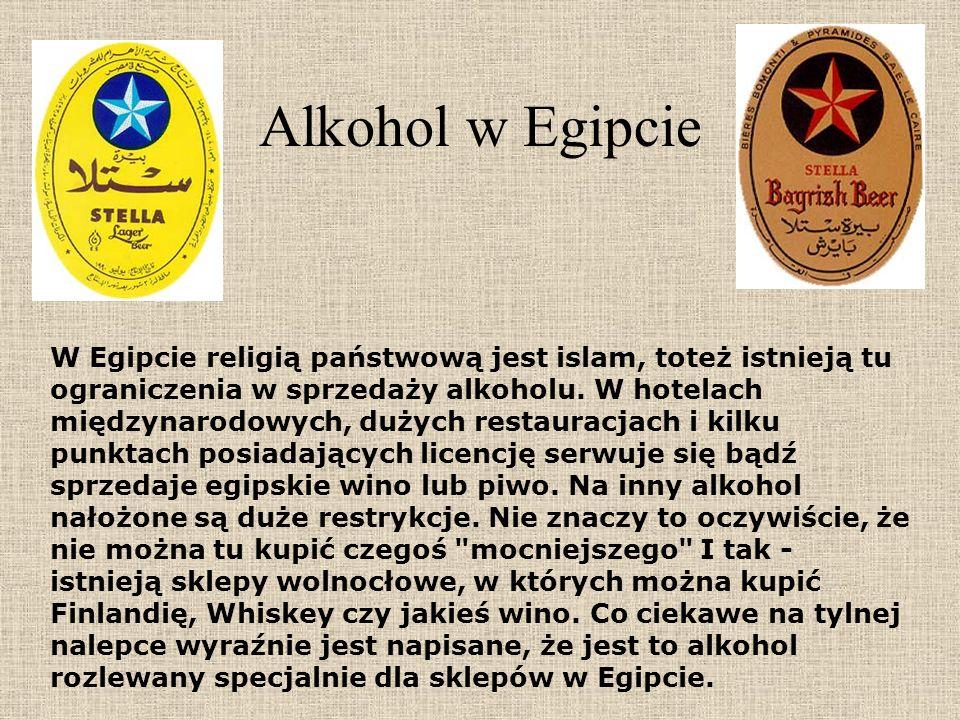 Alkohol w Egipcie