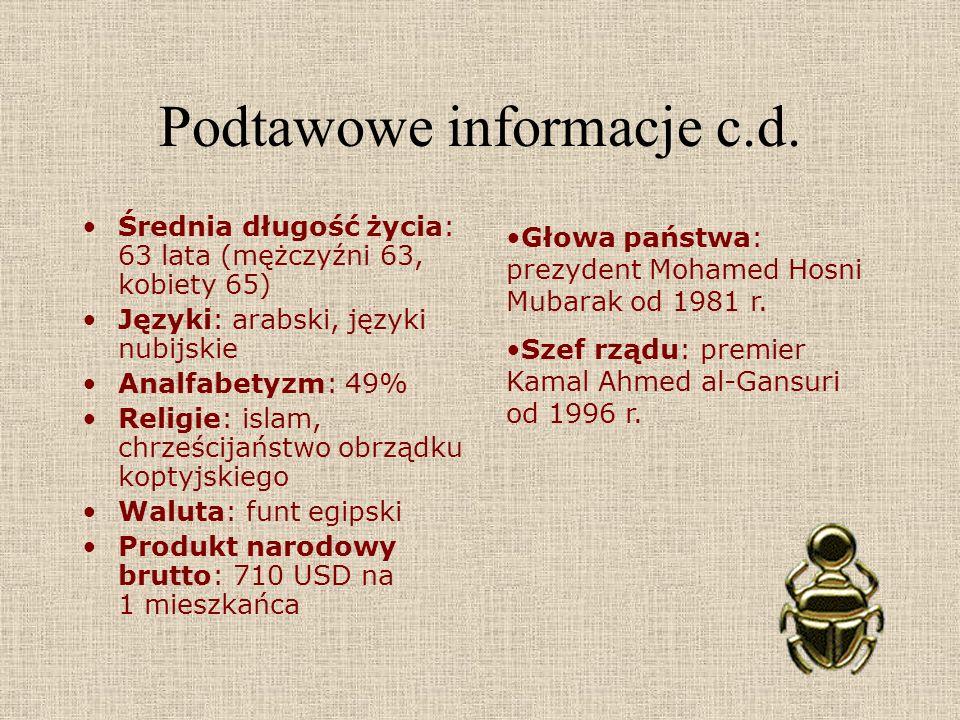 Podtawowe informacje c.d.