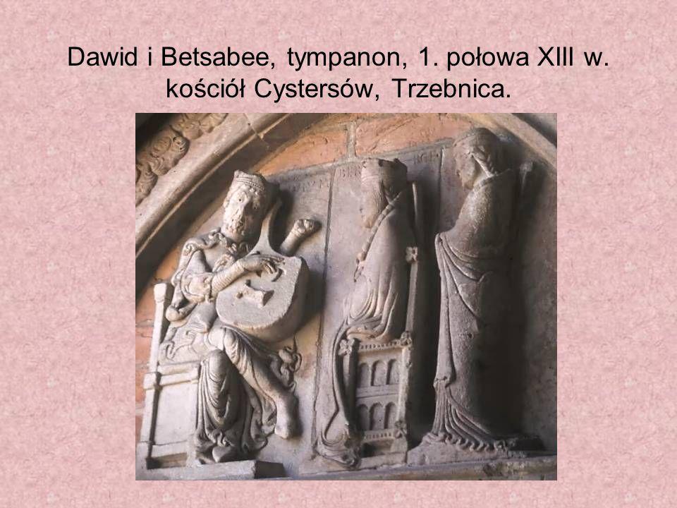 Dawid i Betsabee, tympanon, 1. połowa XIII w