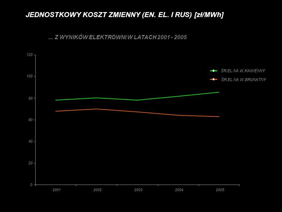 ... Z WYNIKÓW ELEKTROWNI W LATACH 2001 - 2005
