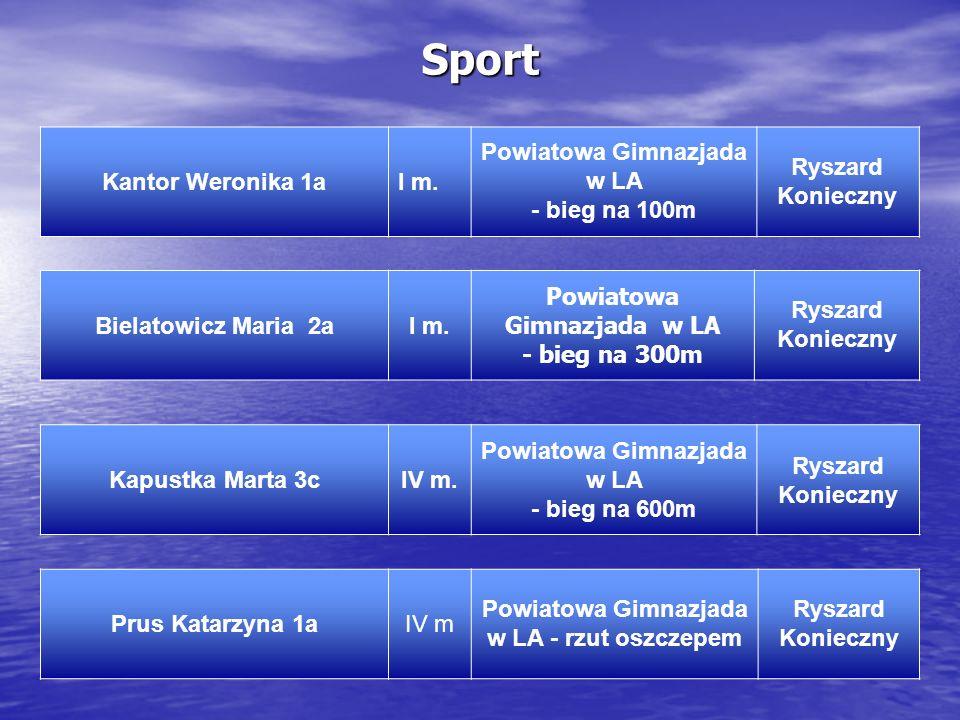 Sport Kantor Weronika 1a I m. Powiatowa Gimnazjada w LA - bieg na 100m