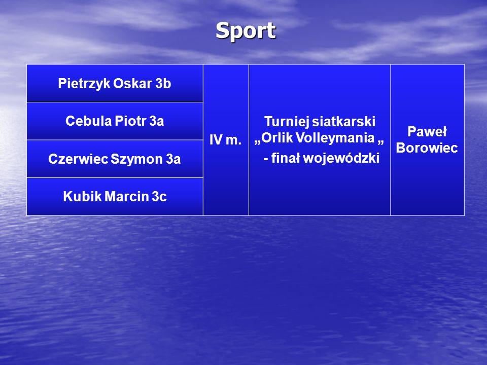 """Turniej siatkarski """"Orlik Volleymania """""""