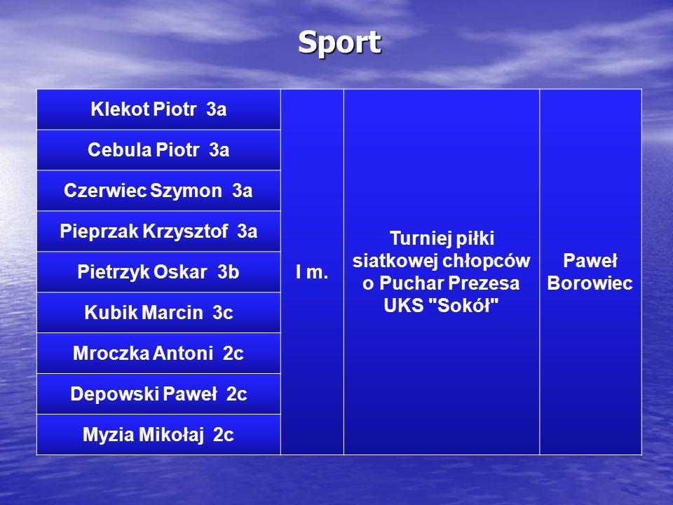 Turniej piłki siatkowej chłopców o Puchar Prezesa UKS Sokół