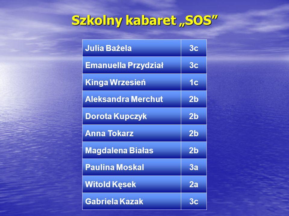 """Szkolny kabaret """"SOS Julia Bażela 3c Emanuella Przydział"""