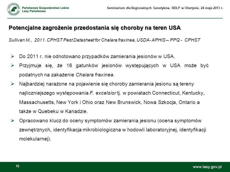Seminarium dla Regionalnych Genetyków, RDLP w Olsztynie, 24 maja 2013 r.
