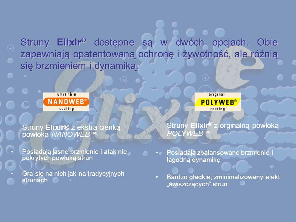 Struny Elixir® dostępne są w dwóch opcjach