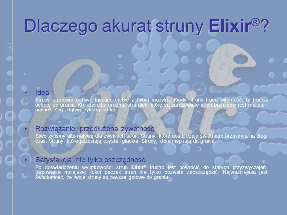Dlaczego akurat struny Elixir®