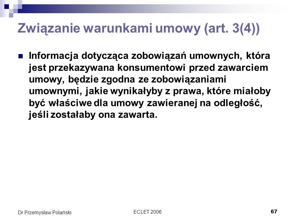Związanie warunkami umowy (art. 3(4))