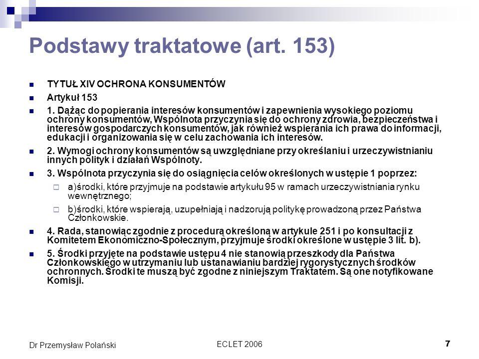 Podstawy traktatowe (art. 153)