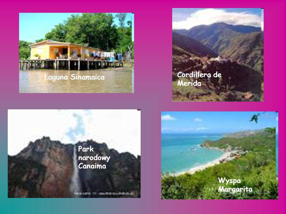 Cordillera de Merida Laguna Sinamaica Park narodowy Canaima Wyspa Margarita
