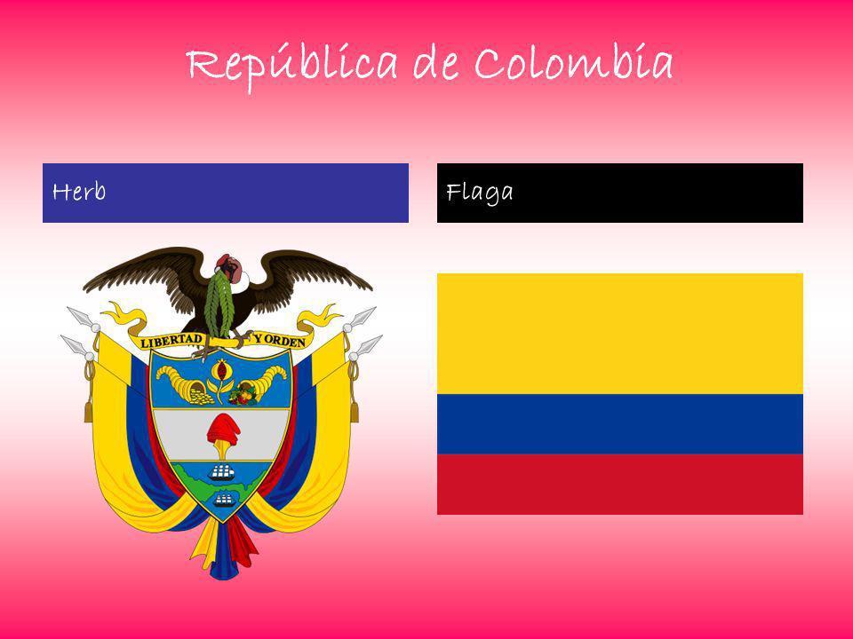 República de Colombia Herb Flaga