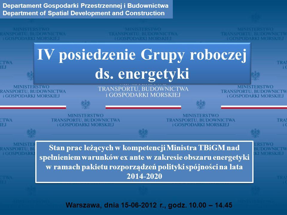 IV posiedzenie Grupy roboczej ds. energetyki