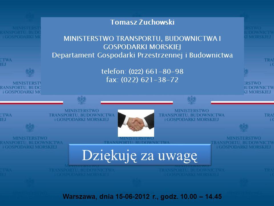 Dziękuję za uwagę Tomasz Żuchowski