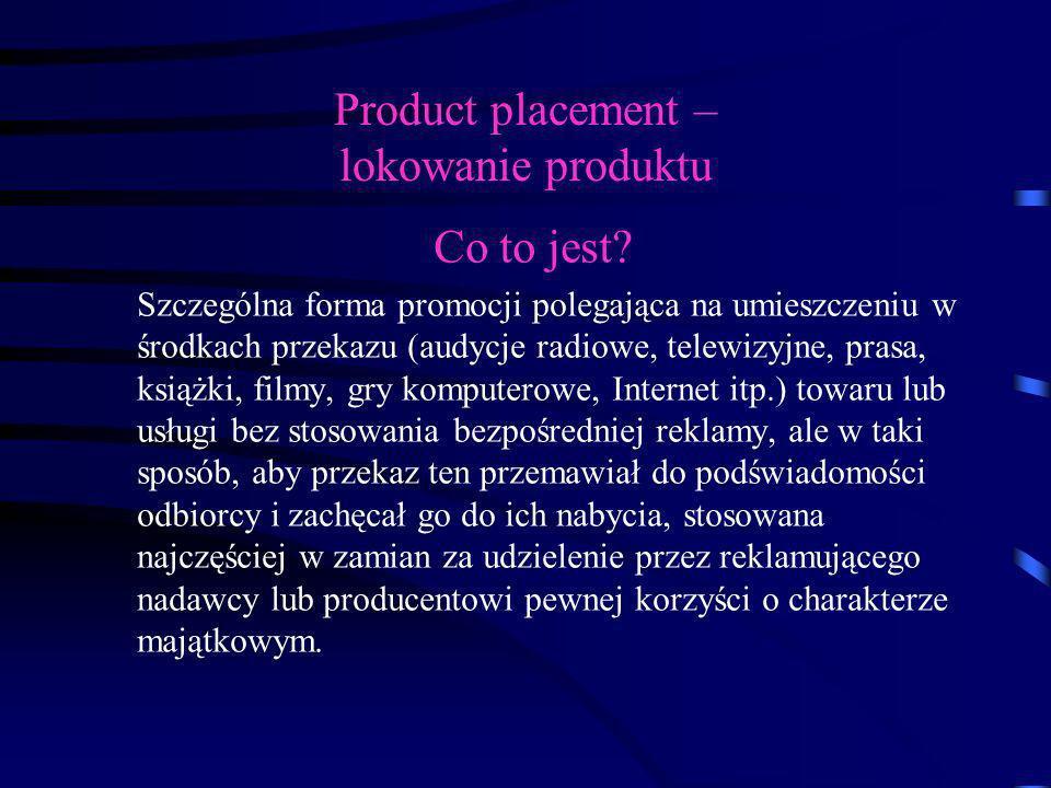 Product placement – lokowanie produktu