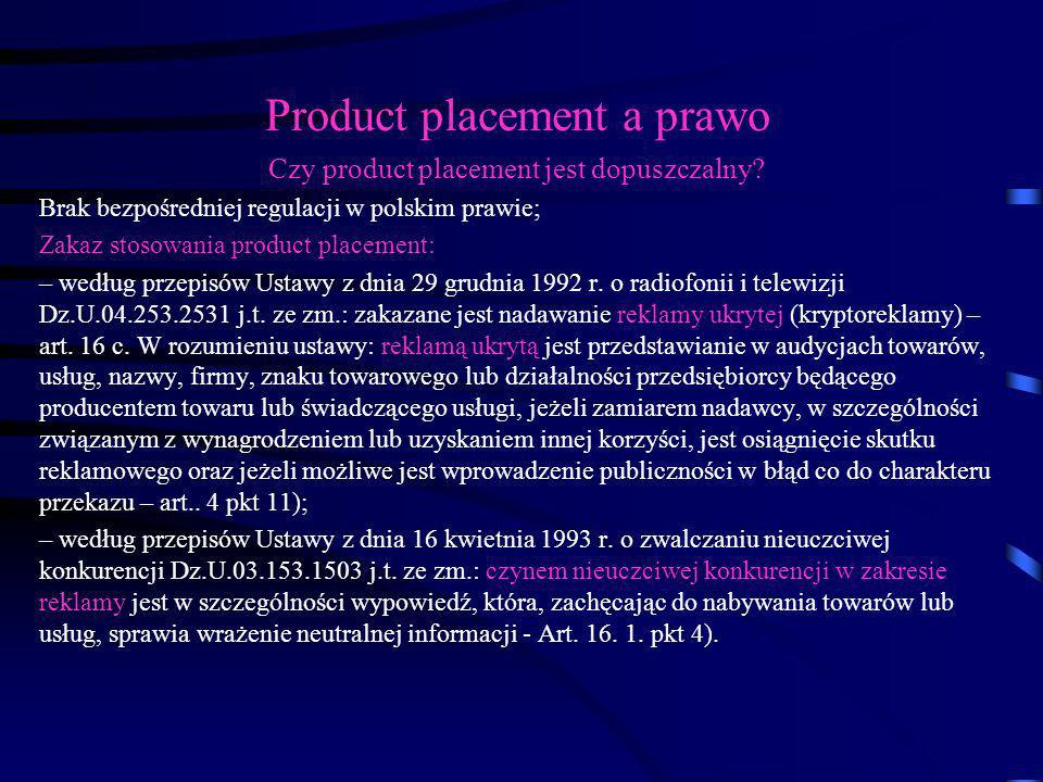 Product placement a prawo