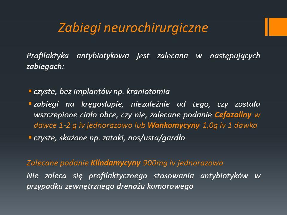 Zabiegi neurochirurgiczne