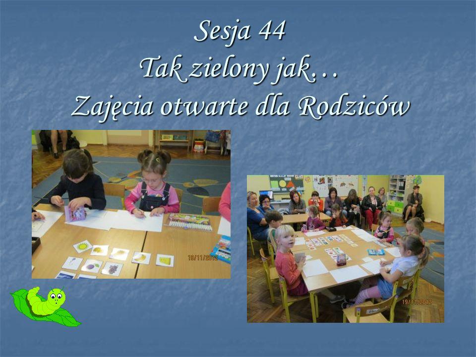 Sesja 44 Tak zielony jak… Zajęcia otwarte dla Rodziców