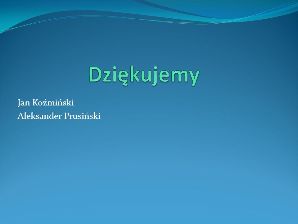 Dziękujemy Jan Koźmiński Aleksander Prusiński