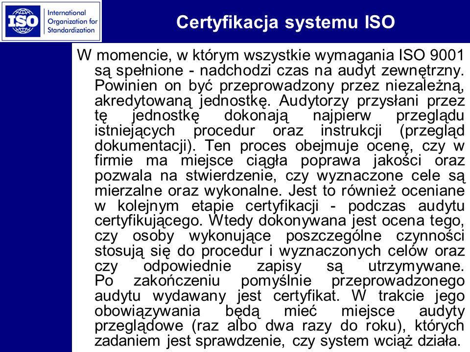 Certyfikacja systemu ISO