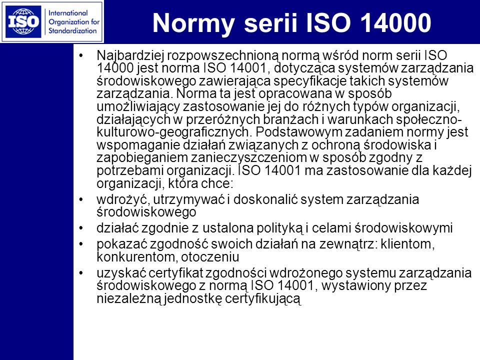 Normy serii ISO 14000