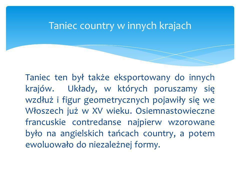 Taniec country w innych krajach