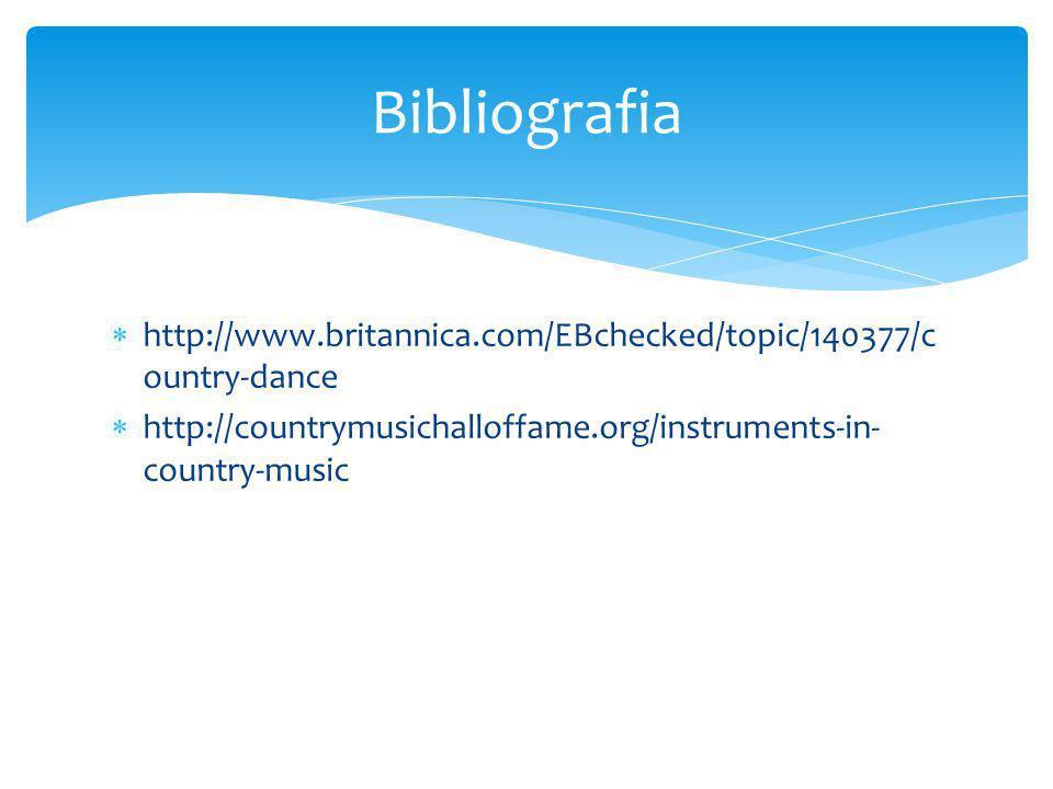 Bibliografia http://www.britannica.com/EBchecked/topic/140377/country-dance.