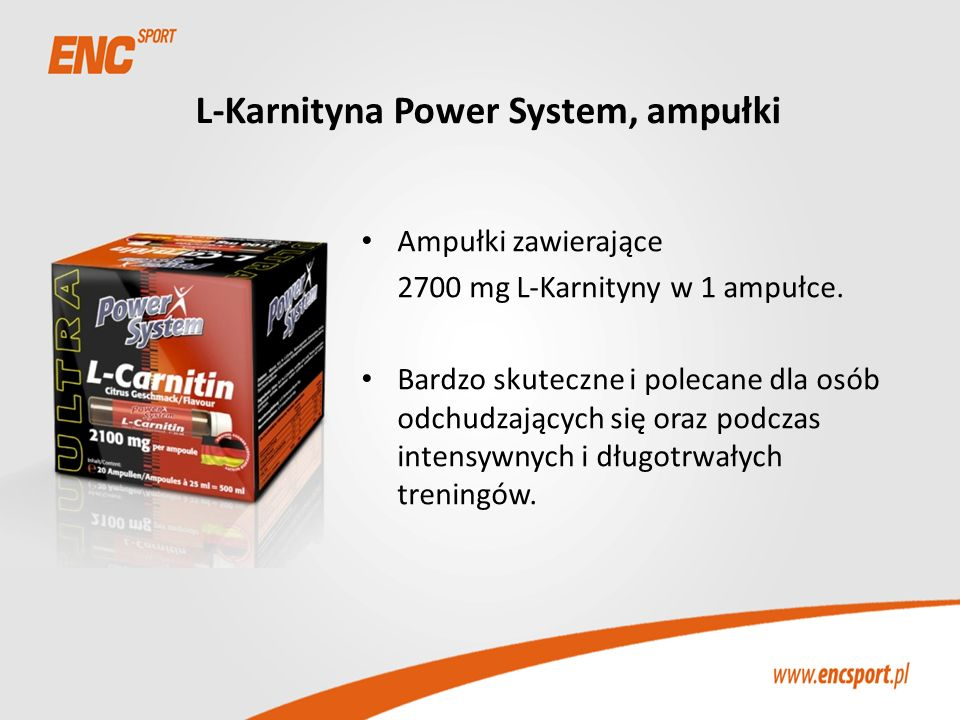 L-Karnityna Power System, ampułki