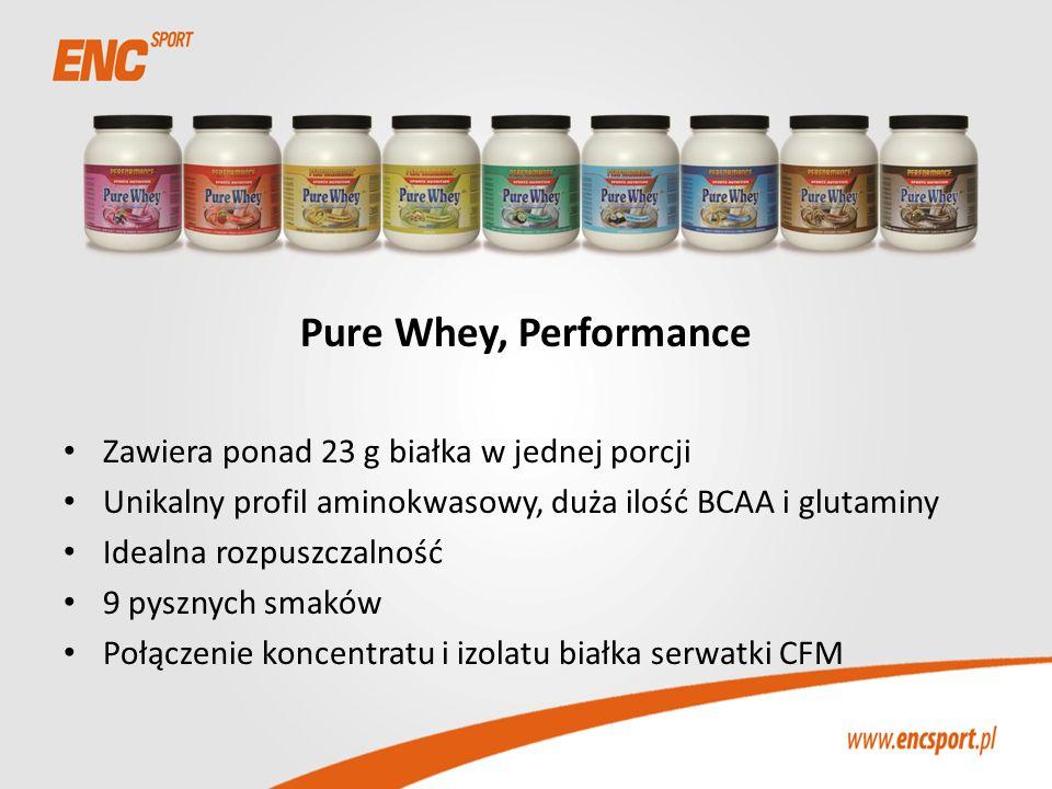 Pure Whey, Performance Zawiera ponad 23 g białka w jednej porcji