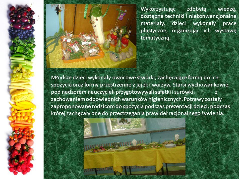 Wykorzystując zdobytą wiedzę, dostępne techniki i niekonwencjonalne materiały, dzieci wykonały prace plastyczne, organizując ich wystawę tematyczną.