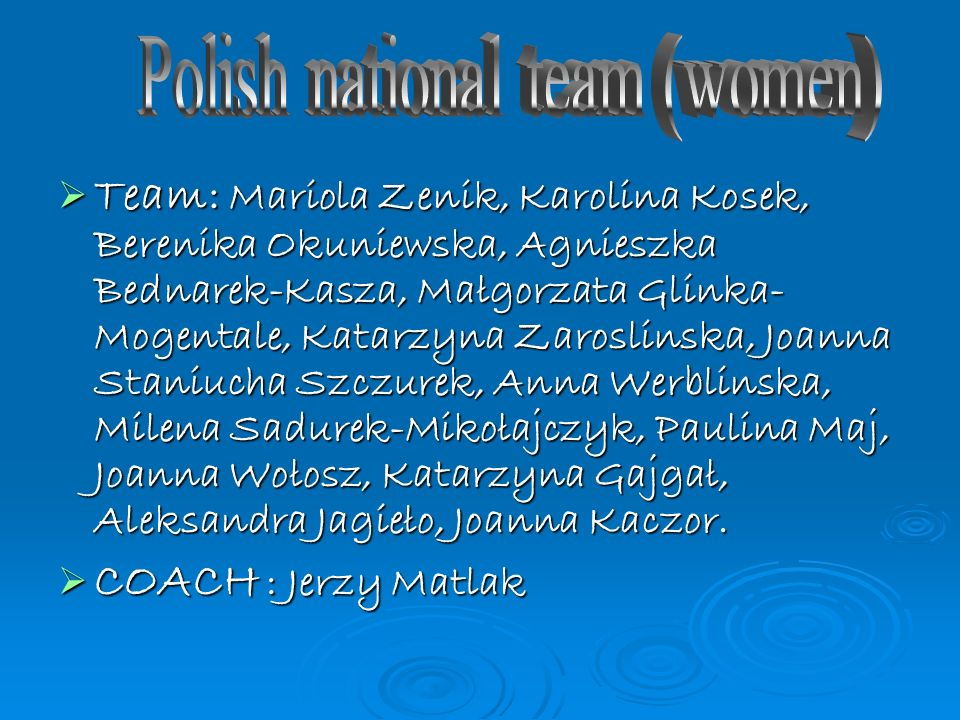 Polish national team (women)