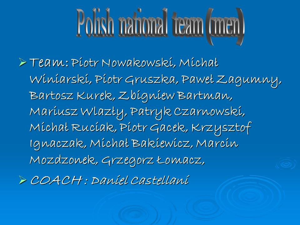 Polish national team (men)
