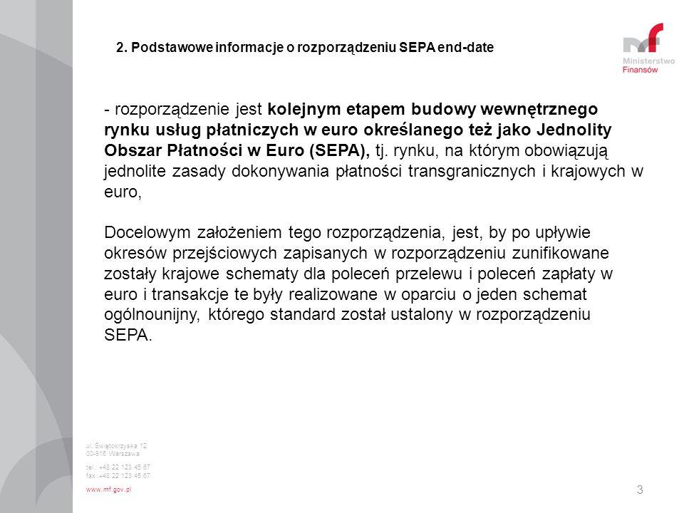 2. Podstawowe informacje o rozporządzeniu SEPA end-date