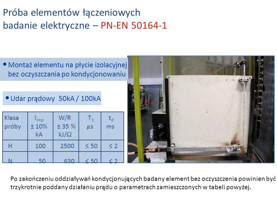 Próba elementów łączeniowych badanie elektryczne – PN-EN 50164-1