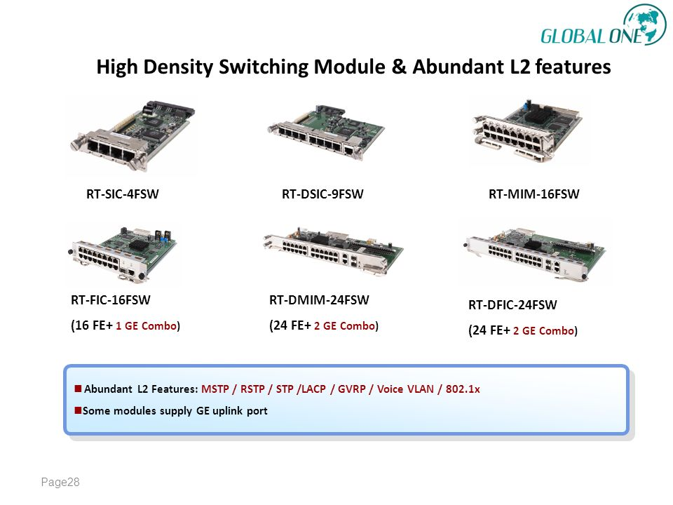 High Density Switching Module & Abundant L2 features