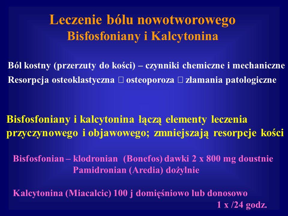 Leczenie bólu nowotworowego Bisfosfoniany i Kalcytonina