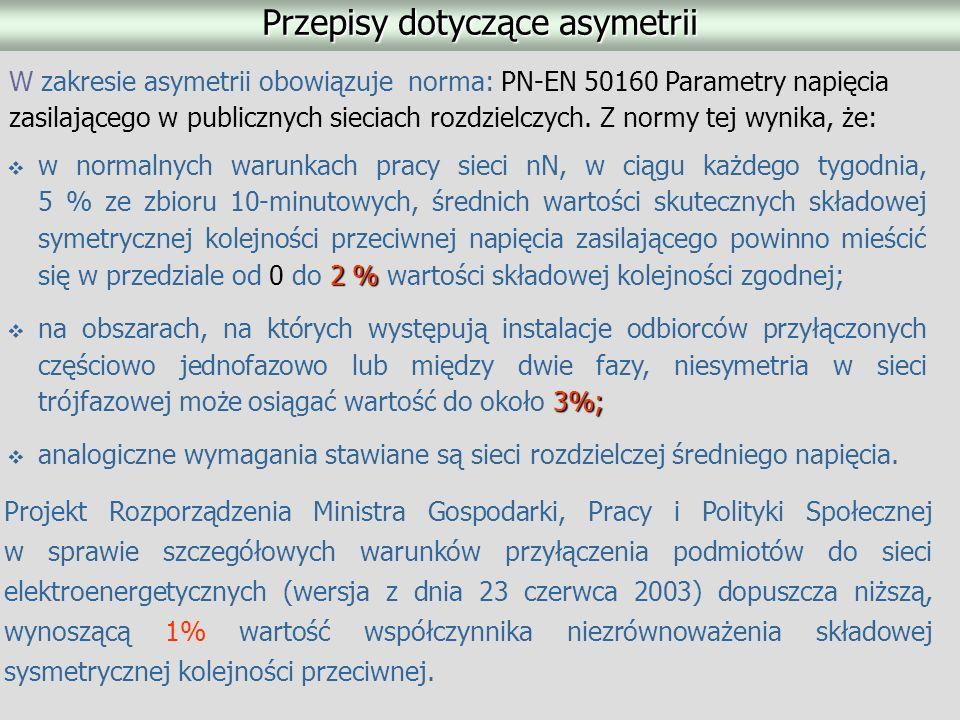 Przepisy dotyczące asymetrii