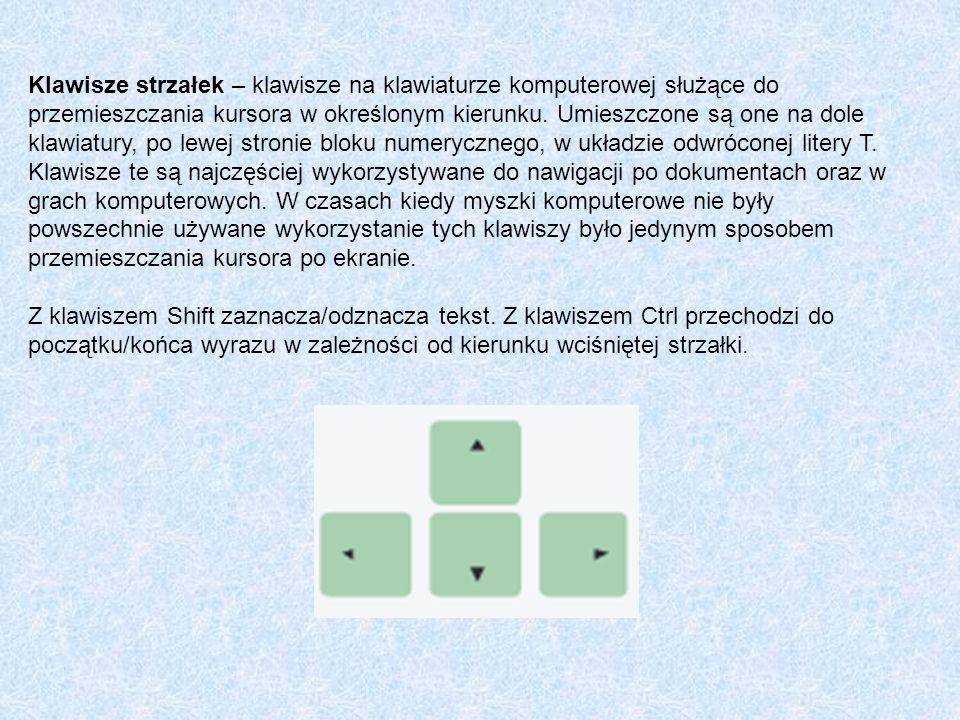 Klawisze strzałek – klawisze na klawiaturze komputerowej służące do przemieszczania kursora w określonym kierunku. Umieszczone są one na dole klawiatury, po lewej stronie bloku numerycznego, w układzie odwróconej litery T. Klawisze te są najczęściej wykorzystywane do nawigacji po dokumentach oraz w grach komputerowych. W czasach kiedy myszki komputerowe nie były powszechnie używane wykorzystanie tych klawiszy było jedynym sposobem przemieszczania kursora po ekranie.